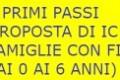 2017 – 2018, PRIMI PASSI (PROPOSTA DI IC PER FAMIGLIE CON FIGLI DAI 0 AI 6 ANNI)
